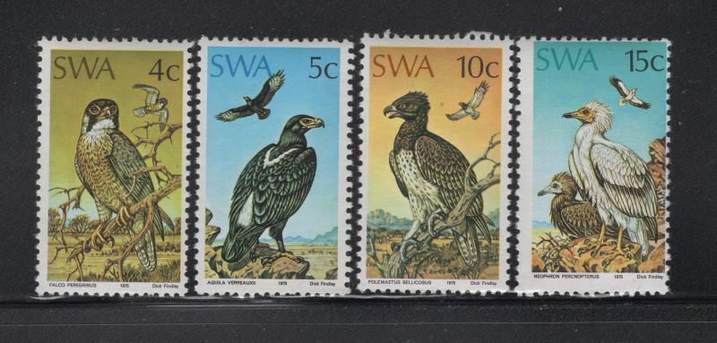 South West Africa Protected Birds of Prey 4 Stamps  Scott 373-6 MNH