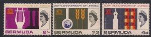 Bermuda 1966 QE2 Set 20th Anniversary of UNESCO MM SG 201 - 203 ( L1487 )