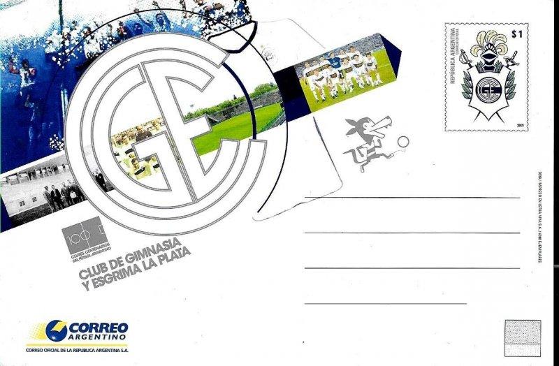 PS-204 ARGENTINA 2009 P STATIONARY SPORTS FOOTBALL SOCCER ESTUDIANTES UNUSED