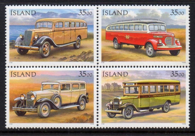 Iceland MNH Block 823a Mail Trucks SCV 5.00