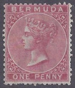Bermuda scott #1 unused hinged F-VF