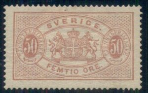 SWEDEN #O23, 50ore Official, og, hinge rem, VF, Scott $140.00