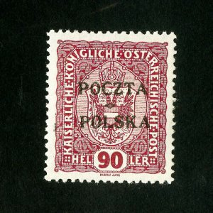Poland Stamps # 50 Sup Rare signed OG LH Scott Value $1,200.00