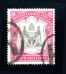 1897 BRITISH CENTRAL AFRICA 4S SC# 53 S.G.# 50 USED