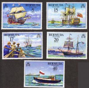 Bermuda #355-59 MNH cpl - ships