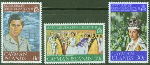 Cayman  Scott 379-81 QE2 25th Anniversary of her Reign set