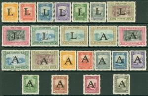 EDW1949SELL : COLOMBIA 1950 Scott #C175-98 Cplt sets. VF, Mint OG. Catalog $111.