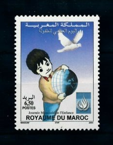 [102182] Morocco 2004 Birds vögel oiseaux dove child day  MNH