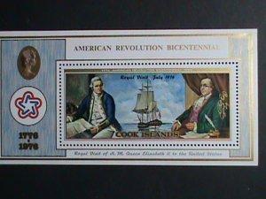 Cook Islands Stamp-1976 SC#447 American Revolution Bicentenary MNH-S/S sheet