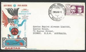 MEXICO 1966 QANTAS first flight cover to London............................10605