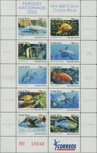 Costa Rica 2006 Sc 593 Birds Fish Dolphins Turtles CV $35