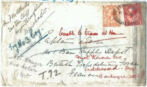 72468 - GREAT BRITAIN - POSTAL HISTORY -  Redirected FIELD POST cover 1915