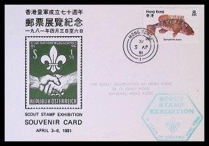 Hong Kong - Scout Stamp Exhibition (1981) Souvenir Card