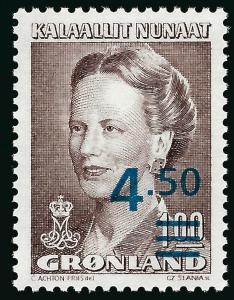 Nice Greenland Slania #227 Queen Margrethe MNH VF...Kalaallit is Hot now!