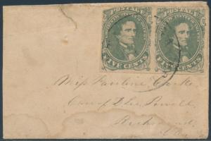 CSA #1c OLIVE GREEN ON LADY'S COVER CHATTANOOGA, TN CANCEL CV $600 BS3843