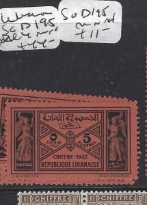 LEBANON  (P1701B)  POSTAGE DUE SG  D195     MNH