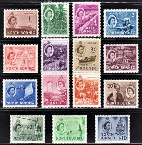 North Borneo Scott 261-75 complete set F to VF mint OG H or NH.