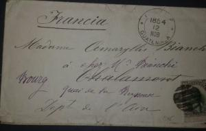 O) 1884 GUATEMALA, QUETZAL 10c black gray and green, TO FRANCE, XF