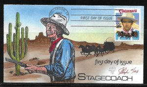 USA 2448 Stagecoach Pugh First Day Cover FDC (z1)