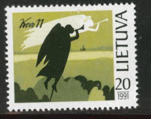 LITHUANIA LIETUVA Scott 389 MNH** 1991 angel indepencence
