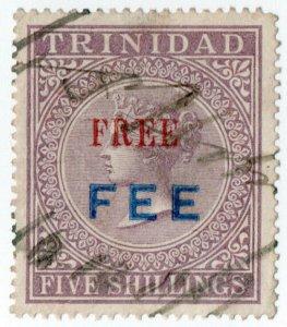 (I.B) Trinidad & Tobago Revenue : Free Fee 5/-