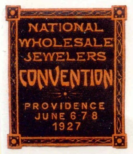 US 1927 Providence Jewelers Convention Poster Stamp