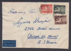 Poland Sc C23/C26 on 1948 Air Mail Cover to Chicago