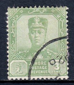 Malaya (Johore) - Scott #104 - Used - Pink paper adhesion/rev. - SCV $4.75
