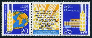 Germany DDR/GDR 1206-1207a pair, MNH. 5th World Cereal and Bread Congress, 1970