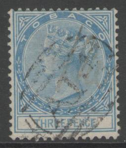 TOBAGO SG2 1879 3d BLUE USED
