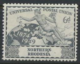 Northern Rhodesia  SG 52 SC# 52 Used / FU -  UPU 1949 -  see details