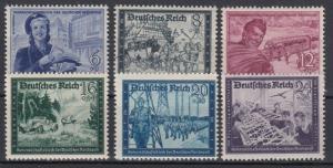 GERMANY Reich 1944 Mi# 888-893 MNH