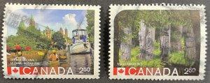 Canada #2739d, 2739e Used F/VF - UNESCO World Heritage Sites 2014 [R812]