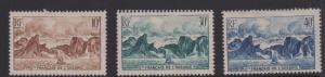 French Polynesia Sc#160-162 MNG/MH