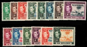 GAMBIA SG150-161, COMPLETE SET, LH MINT. Cat £160.