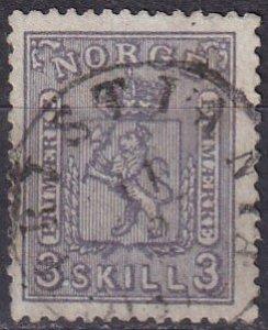 Norway #13  F-VF  Used  CV $160.00  (Z7991)