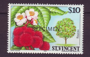 J24518 JLstamps 1984 st vincent specimen hv of set mnh #730 flowers