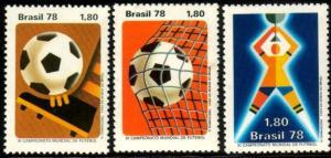 11th World Cup Soccer Championship, Argentina, 1978, Brazil SC#1550-2 MNH set