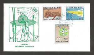 1968 Haiti Boy Scouts Education ovpt Culture FDC