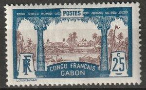 Gabon 1910 Sc 39 MH*