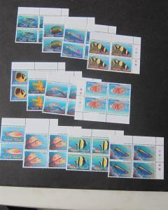 Norfolk Island 1988 Sc 647-57 BLK(4) set MNH