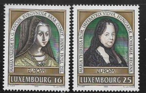 LUXEMBOURG, 944-945, HINGED, FAMOUS WOMEN