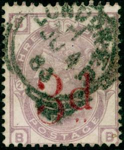 SG159, 3d on 3d lilac PLATE 21, USED. Cat £145. BB