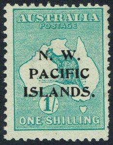 NWPI NEW GUINEA 1915 KANGAROO 1/- 1ST WMK