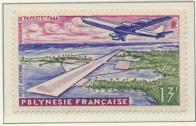 French Polynesia Stamp Scott #C-28, Mint Hinged - Free U.S. Shipping, Free Wo...