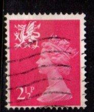 Wales - #WMMH1 Machin Queen Elizabeth II - Used