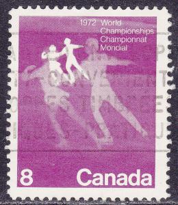 Canada 559 USED 1972 World Figure Skating Championships 8
