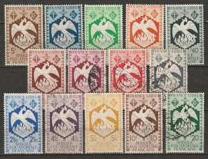 French Equatorial Africa 1941 Sc 142-55 set used/MH*
