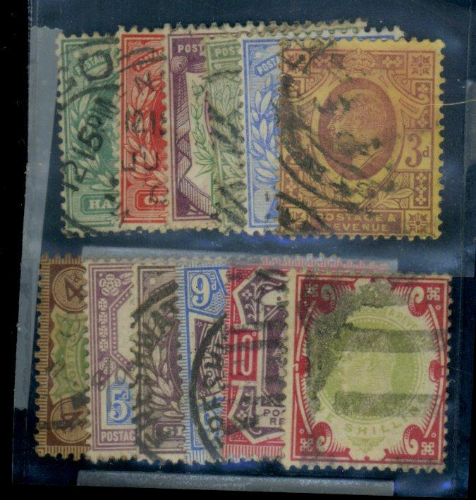 Great Britain #127-138 Used F-VF Cat$338.85