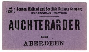 (I.B) London Midland & Scottish Railway (Caledonian) Auchterarder from Aberdeen